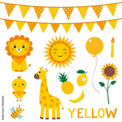 obraz PCV Elementy w kolorze żółtym