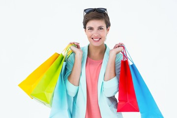 Woman holding some shopping bags