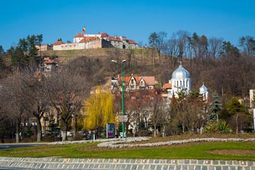 The famous medieval fortress citadel in Rupea, Brasov, Romania