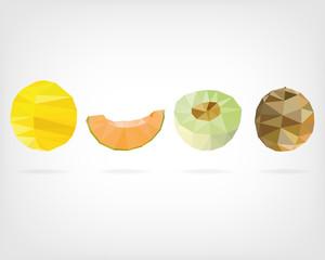 Low Poly Honeydew Melon