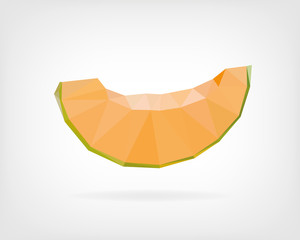 Low Poly Honeydew Melon