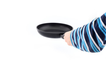 Pan in hand