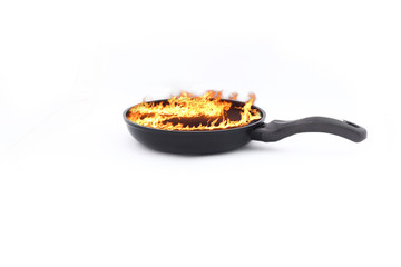 pan with fire