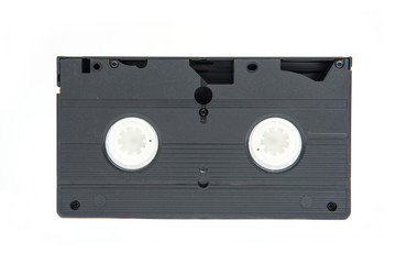 old classic videotape on white background