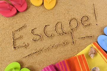 Escape beach background