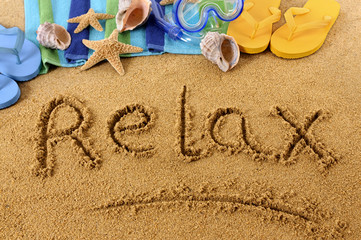 Relax beach writing
