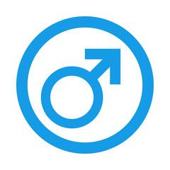 Icono redondo masculino azul