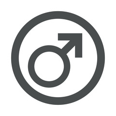 Icono redondo masculino gris