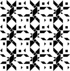 Black and white geometric seamless pattern modern stylish.