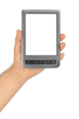 Hand with E-book reader