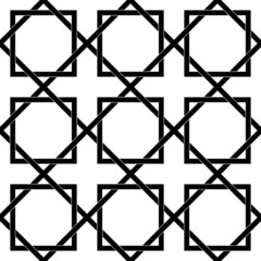 Black and white geometric seamless pattern with weave stylish.