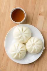 Chinese bun with tea