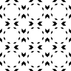 Black and white geometric seamless pattern with chevron.