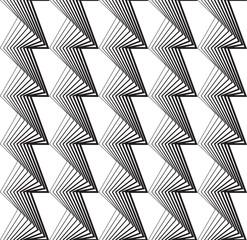 Black and white geometric seamless pattern in modern stylish.