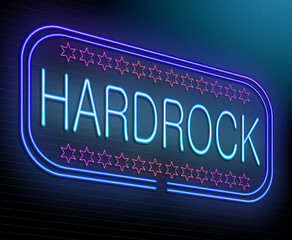 Hard rock concept.