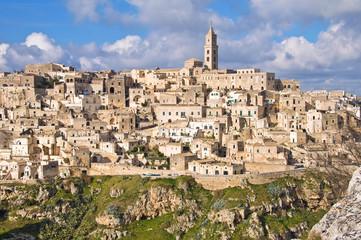 Panoramic view of Matera. Basilicata. Italy.