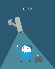 Flat Business character Series. cctv concept