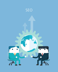 Flat Business character Series.SEO concept