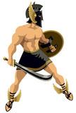 Perseus on White poster