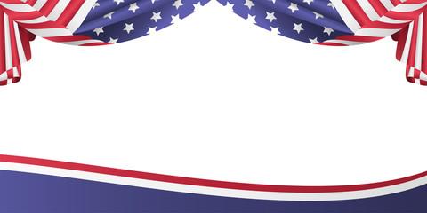 USA patriotic flag bunting banner