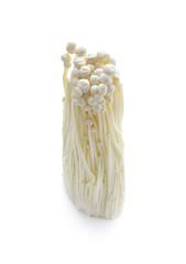 Golden Needle Mushroom on white background