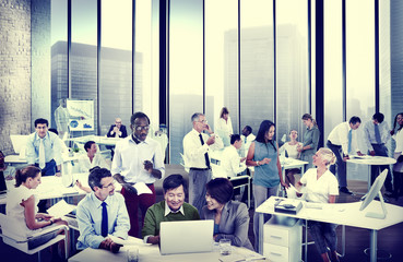 Business People Office Working Discussion Team Concept