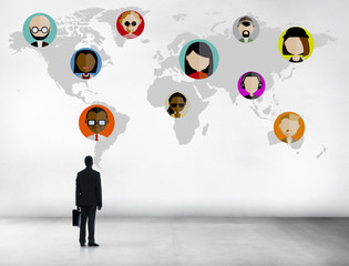 Global Community People Social Networking Connection Concept