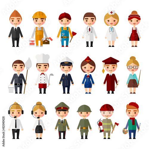 Set of people of different professions. - 82040428