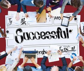 Successful Goal Target Achievement Accomplishment Concept