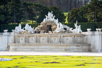 The Neptune Fountain at Schonbrunn Palace, Vienna, Austria