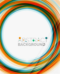 Bright colorful line abstract background
