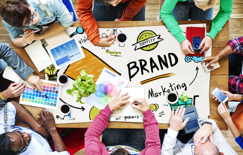 Brand Branding Marketing Commercial Name Concept - 82041051