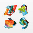 Paper graphics infographic web layouts