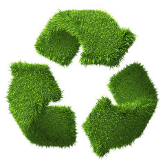 Recycling Symbol of Grass