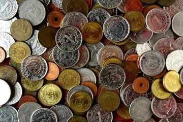 Bunch of loose change or coins