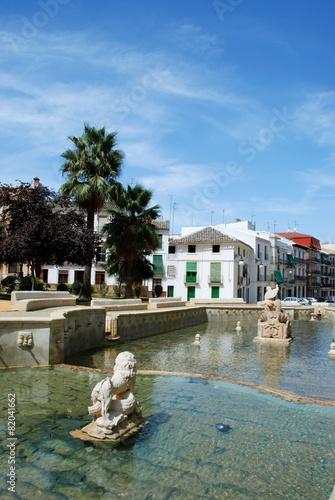 Leinwanddruck Bild Kings fountain, Priego de Cordoba © Arena Photo UK