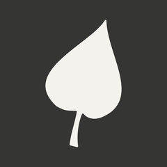 Flat in black and white mobile application leaf tree