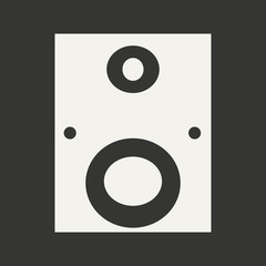 Flat in black and white mobile application subwoofer
