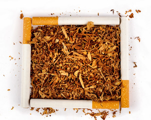 Square of Cigarettes and Tobacco