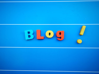 Blog word text