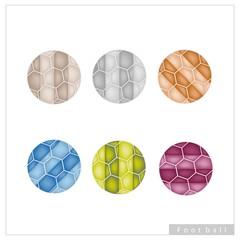 Set of Multi Colored Footballs or Soccer Balls