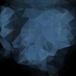 Blue polygonal vintage old background