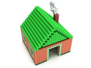 House made by voxels