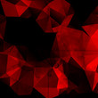 Red polygonal vintage background