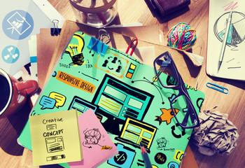 Responsive Design Responsive Quality Content Online Concept