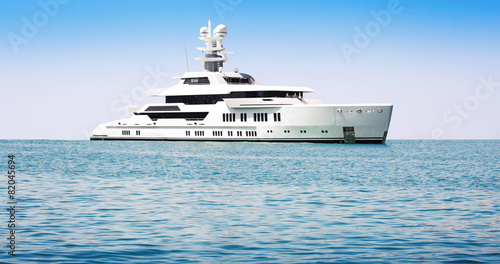 Luxury boat in the sea. - 82045694