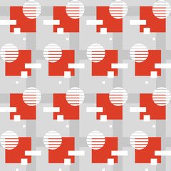 Geometric pattern with squares