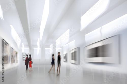 Leinwanddruck Bild people in the art gallery center