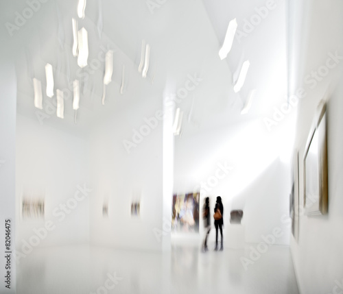 people in the art gallery center - 82046475
