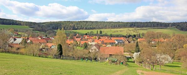 Traditionelles Dorf in Thüringen (Tiefengruben)